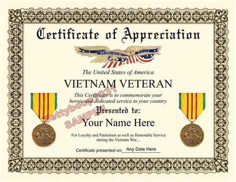 cold war veterans seek recognition for their service vietnam veteran certificate of appreciation 8 5 by 11