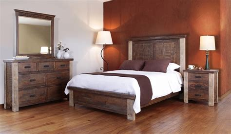 distressed wood bedroom furniture bradley s furniture etc rustic artisan bedroom collections