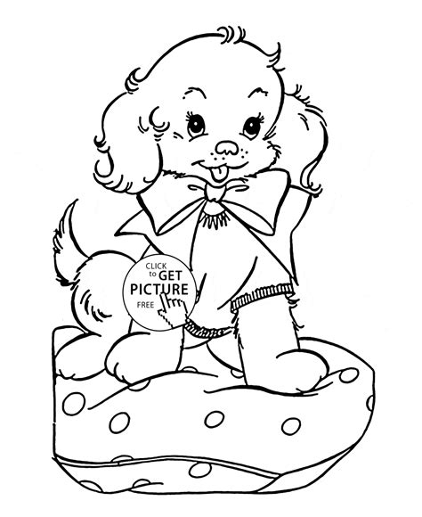 christmas puppy coloring page printable coloring pages cute puppy coloring page for kids animal coloring pages