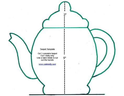 teapot template cafe hoffy may 2013