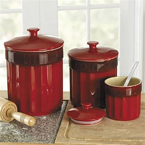 kitchen counter canister sets 1000 images about red kitchen storage jars red kitchen