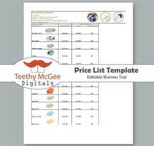 Wholesale Price Sheet Template by Price List Template Instant Editable For Wholesale