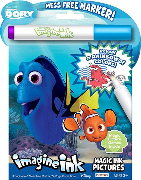 imagine ink coloring book disney finding dory imagine ink magic ink pictures bendon