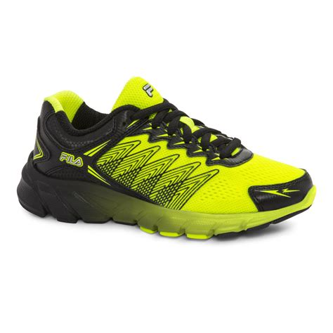 fila boys speedcross neon yellow black athletic shoe