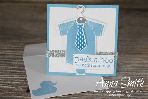 card stuff onesie baby shower card scrapping sting and stuff