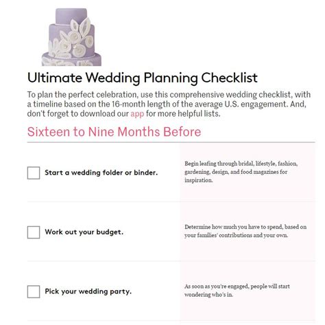 Wedding Checklist by 11 Free Printable Checklists For Your Wedding Timeline