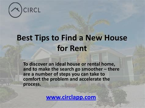 ppt best tips to find a new house for rent circl