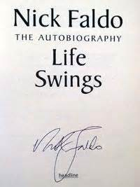 nick faldo swing for life signed books store and sports memorabilia