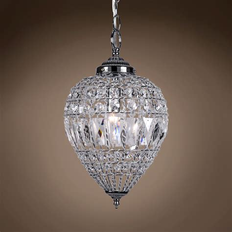 Beaded Glass Pendant Light Joshua Marshal 7022 001 1 Light Beaded Mini Pendant Light In Chrome Finish With Clear
