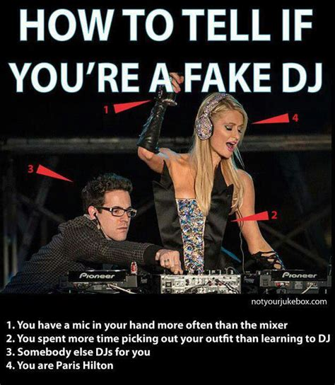 Dj Meme - how to tell if you re a fake dj