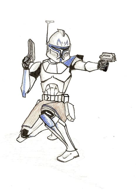 captain rex free colouring pages