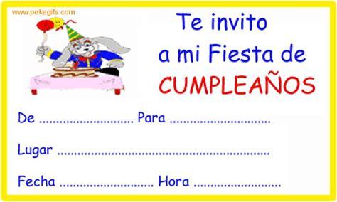 imagenes de cumpleaños para invitaciones invitaciones para cumplea 241 os tarjetas de cumplea 241 os