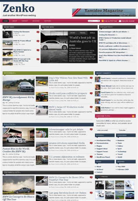html news themes template wordpress zenko magazine tema por wpzoom ou theme
