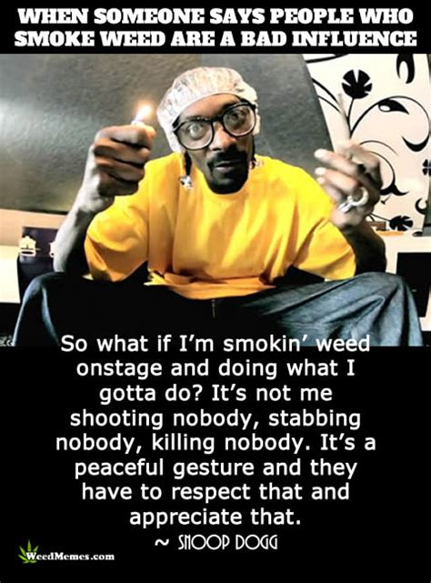 Smoking Is Bad Meme - smoking weed bad influence snoop dogg weed quote