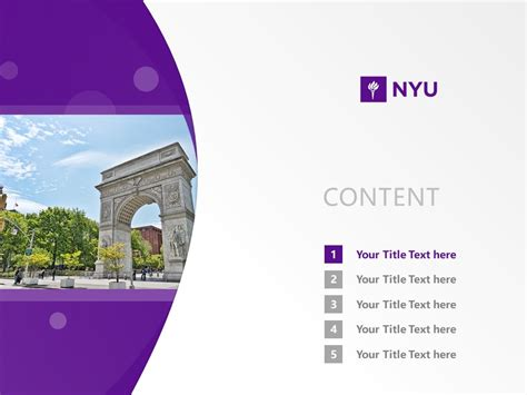 New York University Powerpoint Template Download 纽约大学ppt模板下载 Nyu Powerpoint Template