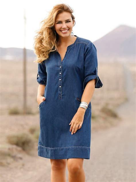 imagenes ropa vaquera dama vestido vaquero mujer manga 3 4 venca 140281