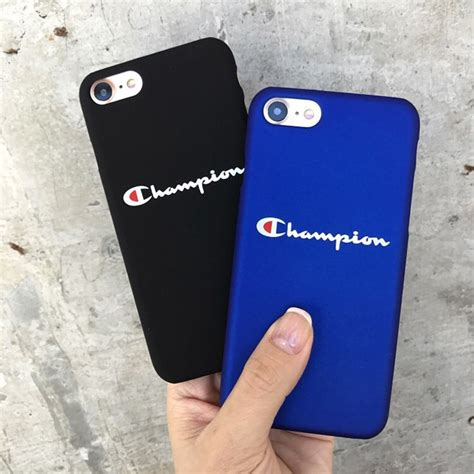 champion pattern letters hard phone case cover  apple iphone