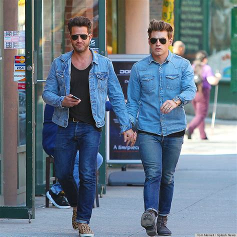 Nate Berkus And Jeremiah Brent Step Out In Matching Denim