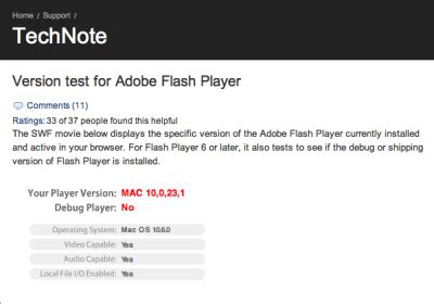 snow leopard installs insecure version of flash the mac