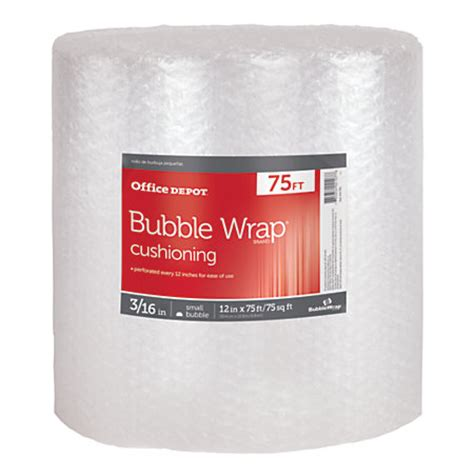 office depot brand roll 316 thick clear 12 x 75 by