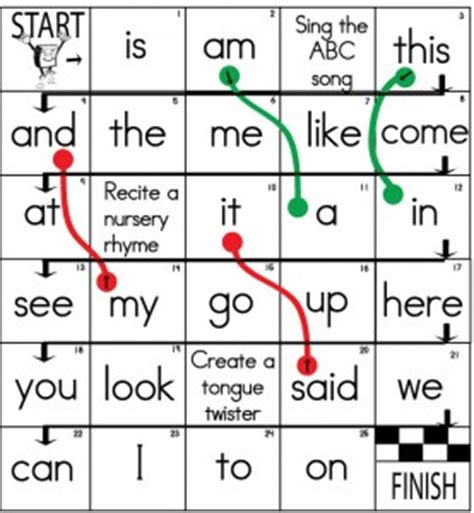 printable sight word board games sight word worksheet new 108 sight word printable board games
