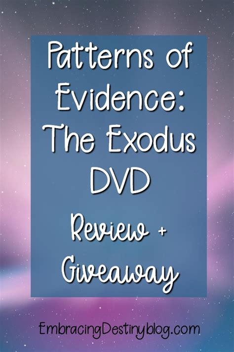 pattern of evidence exodus free patterns of evidence the exodus dvd review giveaway