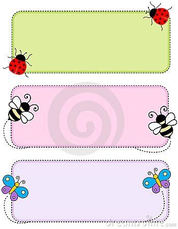 printable insect name tags insect header