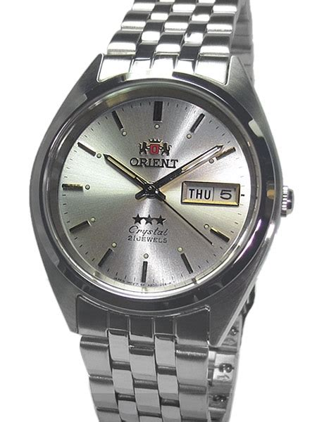 Automatic Silver List White orient automatic with silver white and stainless steel bracelet ab0000aw