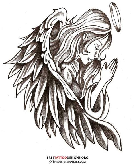 tribal angel tattoo guardian tattoos type tattoos