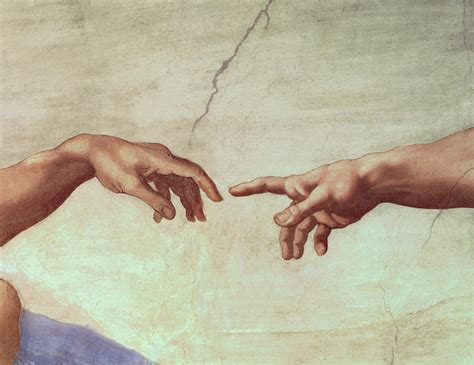 sistine chapel ceiling creation of adam detail from the creation of adam by michelangelo