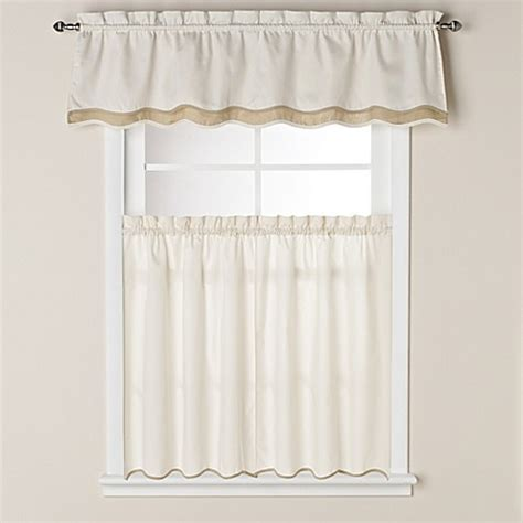 curtains for 36 inch window buy pipeline 36 inch window curtain tier pair in bone from