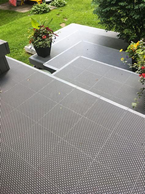 deck tile modular patio flooring  draining decking