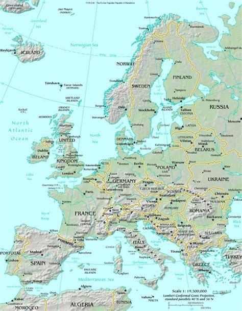 europe and uk map map of europe map europe atlas