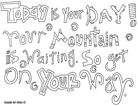 coloring page with quote dr seuss coloring pages for one fish two fish coloring