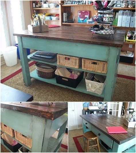 Folding Island Kitchen Cart by 10 Cool Diy Craft Table Ideas For Your Craft Room