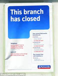 banks shutting 10 branches each week as they flee villages