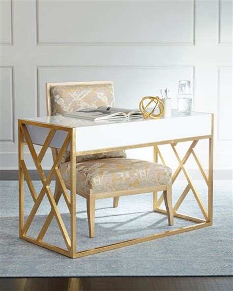 white and gold desk glam white desks for your home office in every style and