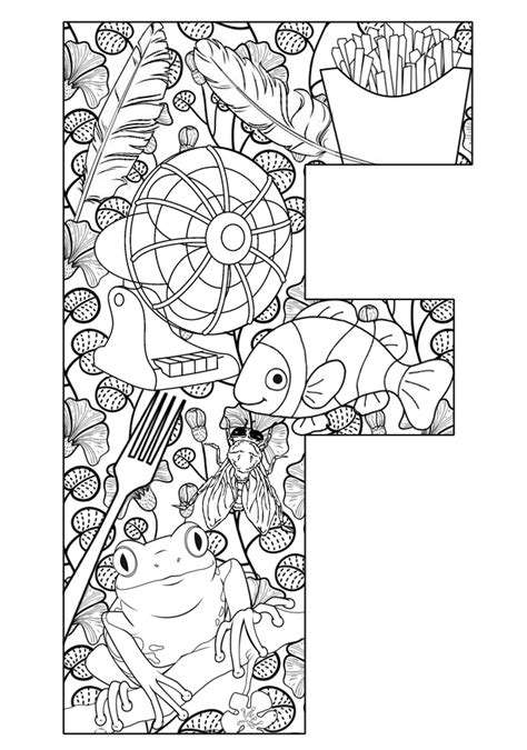 coloring pages that start with the letter m things that start with f free printable coloring pages