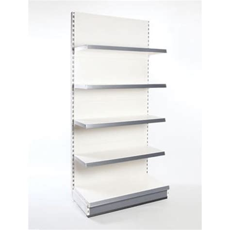 buy single sided metal shelving wall bays display centre