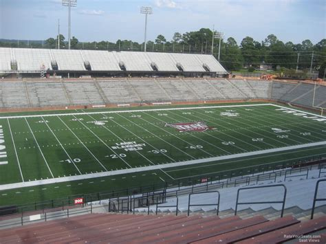 section 8 troy al troy memorial stadium section 202 rateyourseats com