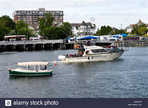 boat cruise victoria bc water taxi victoria harbour canada stock photos water