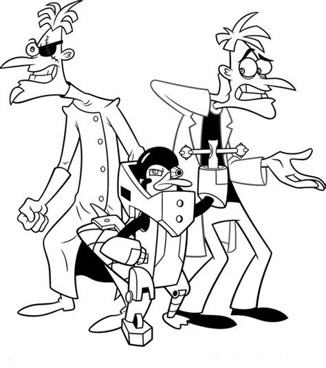 December 2012 Coloring Pages Phineas And Ferb Colouring Pages