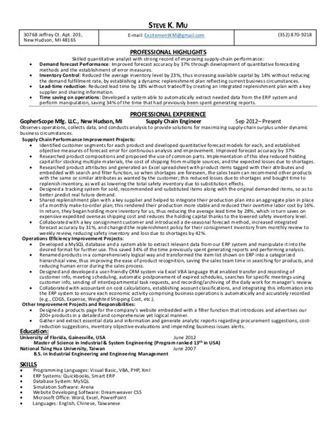 Supply Chain Analyst Resume by Supply Chain Analyst Resume Cover Letter
