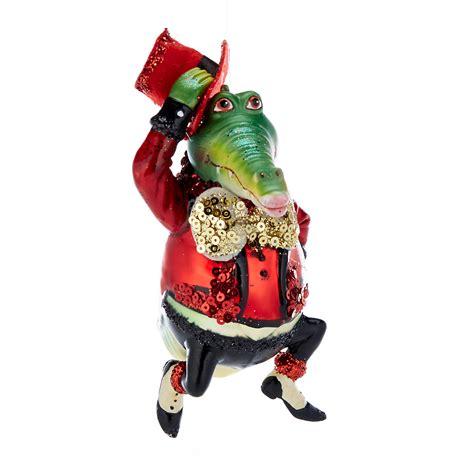 barnyard party gator christmas ornament gump s