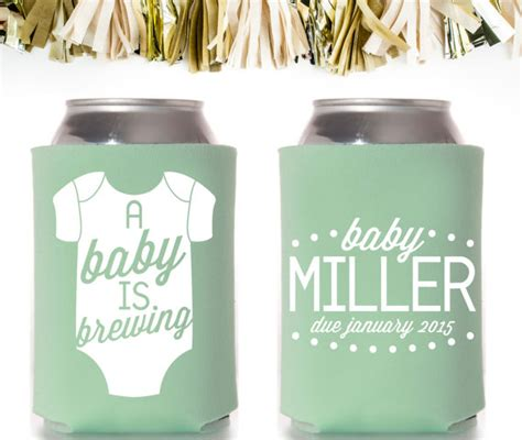 onesie a baby is brewing baby shower favors custom and