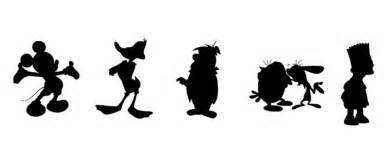Disney Cartoon Characters Silhouettes Sketch Coloring Page sketch template