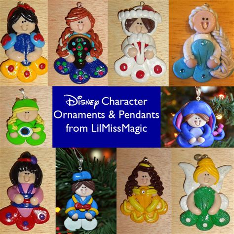 hand made disney character ornaments from lilmissmagic
