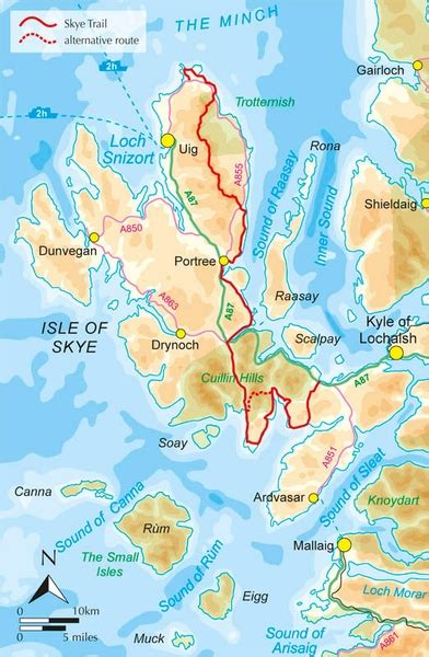 printable map skye skye trail guidebook a 7 day trek across the isle of skye