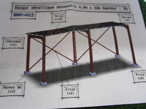 Fabricant Hangar Metallique by Hangar M 233 Tallique Monopente 4 Hmm54812 Minimaker 34 90
