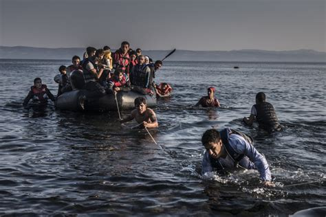 refugee crisis europe boat on island of lesbos a microcosm of greece s other crisis